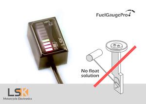 FuelGaugePro universal Float free motorcycle fuel gauge meter pressure sensor