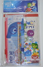 Disney inside out sketching set school stationary pencils pouch 7pc New