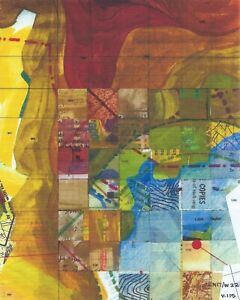 Jerry's Map Original Panel N17/W22 Gen VII Collectible Process Map Art!