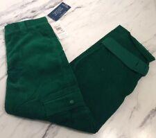 Heartstrings New NWT Boys Cordoroy Green Pant Cargo Size 14