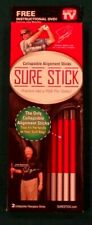 "Golf-""Sure Stick"" Alignment Sticks. Fits in your golfbag. instructional dvd incl"
