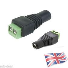 10 X DC POWER SOCKET 12V VOLT CCTV ADAPTOR CONNECTOR FEMALE 2.1MM LED LIGHTS