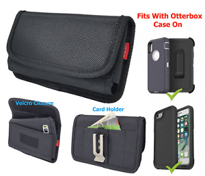 Cell Phone Rugged Pouch Holster Carrying Cover Fits Otterbox Defender Case on it