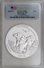 2016-P 25C Shawnee NF Illinois 5 oz Silver Specimen Coin PCGS SP69 First Strike