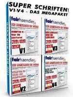 SUPER SCHRIFTEN V1-V4 - DAS MEGAPAKET über 6000 Schriftarten Fonts NEU E-Lizenz