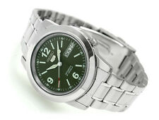 Seiko 5 Automatic Mens Watch Green Dial Skeleton Back SNKE59K1 UK Seller