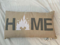 """NWT Disney Parks 27"""" Large HOME Throw Pillow Cinderella Castle WDW Mickey Mouse"""