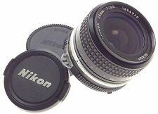 NIKON-AI 1:3.5 f=28mm VINTAGE SLR 35mm FILM CAMERA LENS 3.5/28 NIKKOR CLEAN CAPS