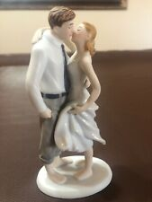 Bella Novia Porcelain Wedding Married Cake Topper Couple Figurine Hand-Painted