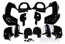 Vivid Black Lower Vented Fairing Kit for Harley Touring Road King Electra Glide