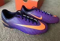 Nike Mercurial Vapor XL FG Football Boots Uk Size 5 Purple Orange Moulded New !