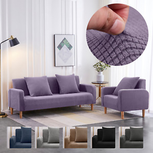 UK Sofa Covers Easy Fit Stretch Protector Soft Couch Cover Thick Plush protector