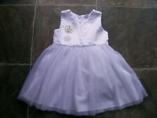 BNWT Girl's White Tulle Party Dress & Nappy Cover Size 2