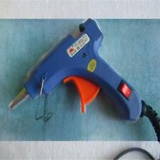 Mini Professional Electric Trigger Hot Melt Glue Stick Gun 20 Watt 7mm Blue ES