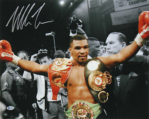 Mike Tyson Authentic Signed 16x20 Horizontal Photo w/ Arms Out Autographed BAS