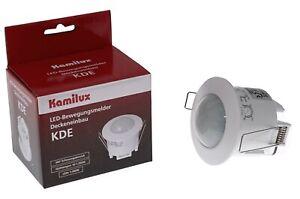Kamilux LED Bewegungsmelder Deckeneinbau KDE Weiß IP20 360°Erfassungsbereich