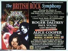 "Roger Daltrey/ Paul Young/ Alice Cooper ""British Rock Symphony"" 1999 Tour Poster"