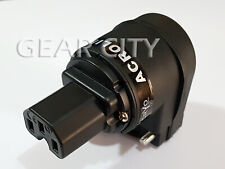 ppf80 Rhodium IEC C13 Mains Power Plug Female Copper Connector Ø 18mm Cable HiFi