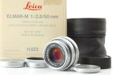 [UNUSED in BOX w/ Case] Leica ELMAR-M 50mm F/2.8 E39 M Mount From Japan #41