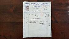 Alte Rechnung 1920 aus Oeblarn, Hans Waidhofer    (C20)