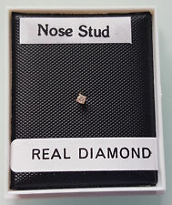 Brand New 9ct Gold & Diamond Nose Stud - Boxed