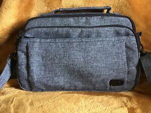 Lug gray  RFID Scoop crossbody purse