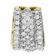 David Yurman 18K Yellow & White Gold 3 Cttw Diamonds Pave Women's Pendant