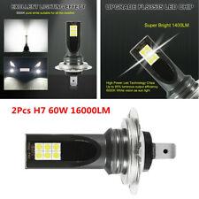 1 Pair H7 LED Headlight Bulb Kit 6000K White 60W 16000LM Fog Light Waterproof