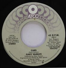 Rock 45 Gary Numan - Cars / Métal sur Atco Records