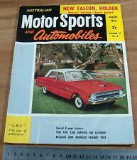 1962 AMS.MOTOR SPORTS & Automobiles.XL FORD FALCON.EJ HOLDEN.Monaco GP