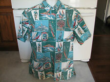 Reyn Spooner XL Hawaiian shirt reverse print Newport Beach 2006 perfect shape