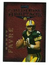 """1999 PLAYOFF GRIDIRON HERITAGE BRETT FAVRE INSERT PACKERS """"LEATHER"""" #GH3 NM-MT!"""