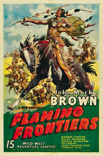 Flaming Frontiers (1938) Johnny Mack Brown Western movie poster 24x36 inches