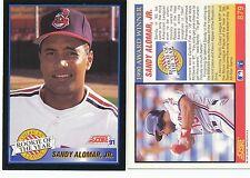 Lot of 12 Sandy Alomar Jr, Rookie of Year, Score 91 #879 MLB Baseball cards NM/M