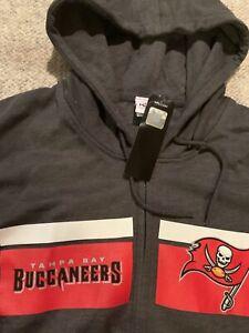 Majestic Mens Tampa Bay Buccaneers Hoodie Sweatshirt full zip Brady Gronk