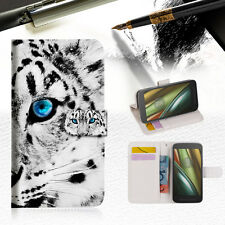 Leopard Wallet TPU Case Cover For  Motorola Moto E3-- A013