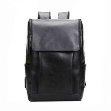 Neu Vintage Retro Herren Leder Schultertasche Überschlagtasche Rucksack Tasche~