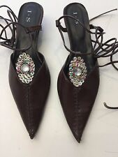 Lace up Women's Leather Flat Shoes Size 39