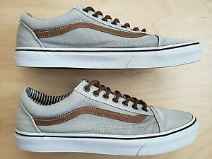Nice! VANS OLD SKOOL SILVER SCONCE / STRIPE DENIM MEN'S CASUAL SKATE SHOES 11.5