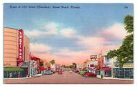 Scene at 41st Street, Miami Beach, FL Postcard