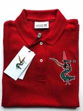 LACOSTE by Jean-Paul Goude Luxus T-Shirt Cotton rot Gr.34 L.P.150 Euro NEU