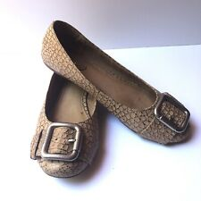 Fossil Women's Leather Buckle Ballet Flats Size 8