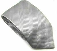 "Baumler Men's Tie 100% Silk Silver Striped 3.5"" Width 60"" Length"