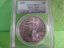 2015 SILVER EAGLE FIRST STRIKE SILVER FOIL LABEL PCGS GRADED MS 70