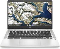 "HP Chromebook 14"" FHD Laptop Celeron N4000, 4G, 32G eMMC 14a-na0050nr Silver NEW"