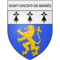 Saint-Vincent-de-Barrès 07 ville Stickers blason autocollant adhésif Taille:12 c