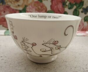 "Whittard of Chelsea Anita Jeram ""One Lump or Two"" Bone China Sugar Bowl"