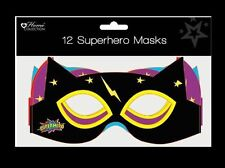 12x MASKS SUPERHERO kids paper Party birthday bag toy costume fancy dress