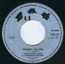 """Glenmore Brown & Hopeton Lewis - Live Like A King / Skinney Leg Girl 7"""" 45T 1968"""