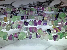 Wholesale 4MM Natural Fluorite Gemstone Chips Spacer Loose Beads About 260PC NEW
